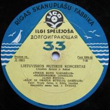 LIETUVIŠKOS MUZIKOS KONCERTAS