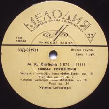 Kūriniai Fortepijonui / Lietuvių Liaudies Dainos (M. K. Čiurlionis)