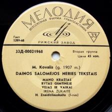 Dainos Salomėjos Neries Tekstais (M. Kovalis)