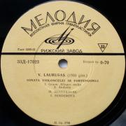 Sonata Violončelei Ir Fortepijonui, Sonata Smuikui Ir Fortepijonui (Vytautas Laurušas)