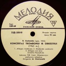 Trys Aspektai / Koncertas Trombonui Ir Orkestrui (V. Barkauskas / B. Gorbulskis)