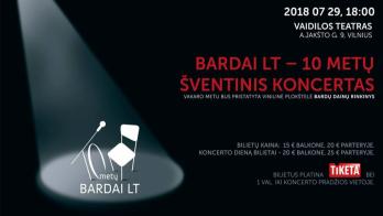Šventinis Bardai LT dešimtmečio koncertas