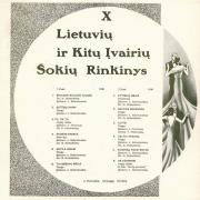 X Lietuvių Ir Kitų Įvairių Šokių Rinkinys